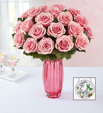 Pink Roses with Suncatcher