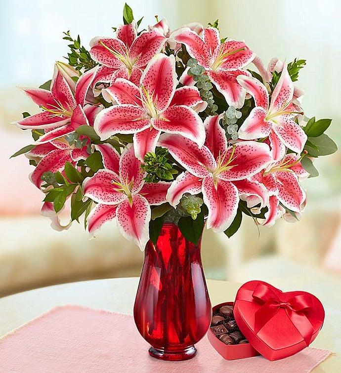 Stunning Pink Valentineu0027s Day Lilies