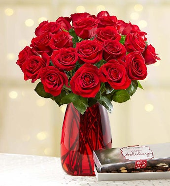 Merry Red Roses + Free Shipping