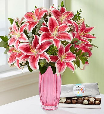 Stunning Pink Lilies for Mom