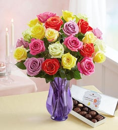 Two Dozen Assorted Roses for Mom | 1800Flowers.com - 104940