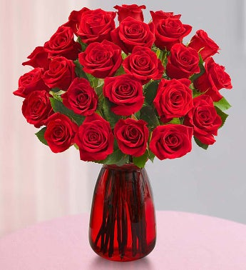 Two Dozen Red Roses for Mom