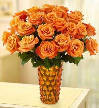Passion for Orange Roses, 12-24 Stems
