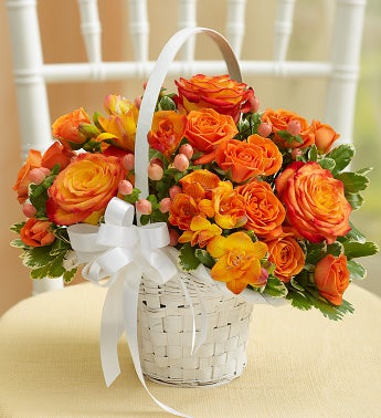 Golden Sunset Flower Girl Arrangement
