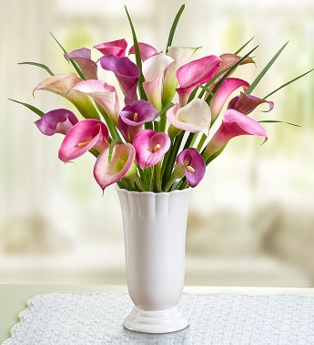 Pink, Purple & Lavender Calla Lilies for Sympathy