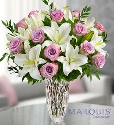 Marquis by Waterford® Purple Rose & Lily Bouquet