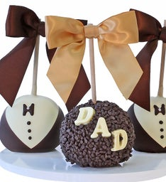 Father's Day Caramel Chocolate Dipped Apples