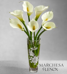 White Callas in Marchesa by Lenox® Vase