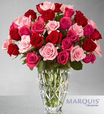 Enchanted Rose Medley - Marquis Waterford® Vase