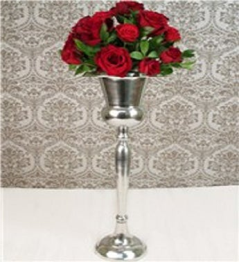Champagne Stand of Red Roses
