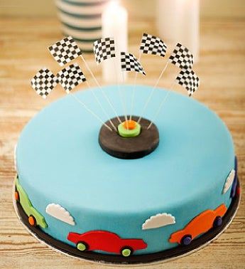 Blue Birthday Car Cake