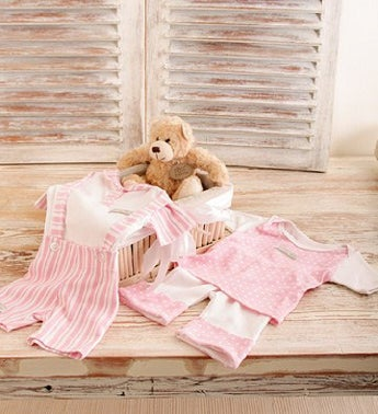 Baby Girl and Teddy Gift Basket