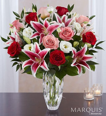 Marquis by Waterford® Blushing Rose and Lily Bouquet