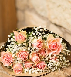 Blush Roses, 12 Stems