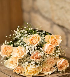 Cream Roses, 12 Stems