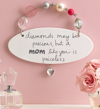 Priceless Mom Artisan Plaque