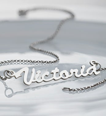 Personalized Sterling Silver Name Necklace
