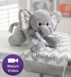 Bearington® Animated Personalized Elephant