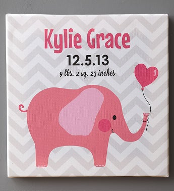 Personalized Baby Canvas for Boy or Girl