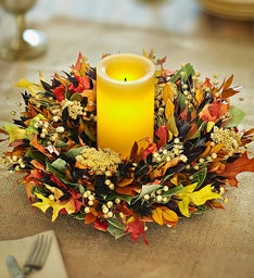 Preserved Autumn Glow Centerpiece – 12""