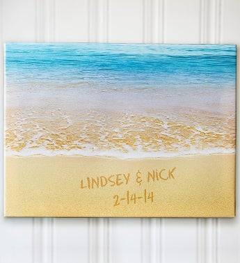 Personalized Sparkling Sands Canvas
