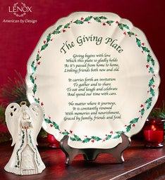 Lenox® Giving Plate With Holiday Angel