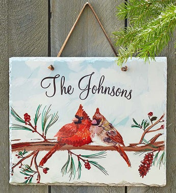 Personalized Cardinal Family Slate Sign