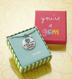 """You're a Gem"" Artisan Birthstone Necklace"