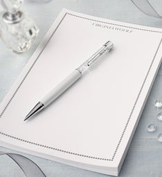 Swarovski® Crystal Pen & Personalized Notepad