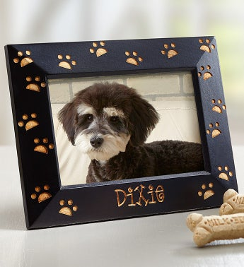 Personalized Paw Print Pet Frame SnipeImage