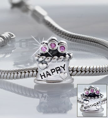 Chamilia® Bracelet with Birthday Cake Charm