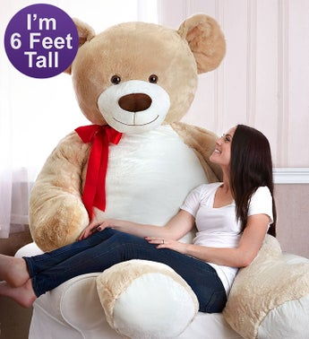Beary Big Bear- 6 Feet Tall