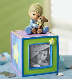 Precious Moments® Bank - Blue or Pink