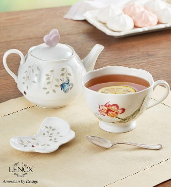 Lenox Butterfly Meadow Tea For One With Tea