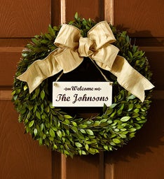Personalized Welcome Wreath