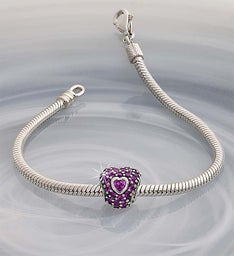 Chamilia® Bracelet with Jeweled Heart Charm