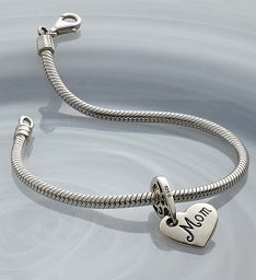 Chamilia® Bracelet with Mom Heart Charm