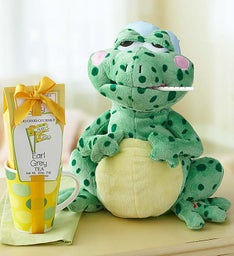 Animated Fever Frog with Tea