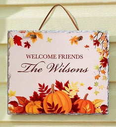 Personalized Fall Harvest Slate Sign