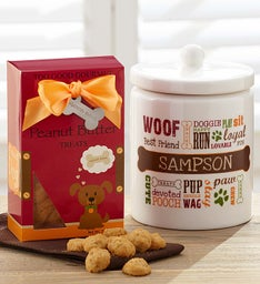 Personalized Pet Treat Jar for Cats or Dogs