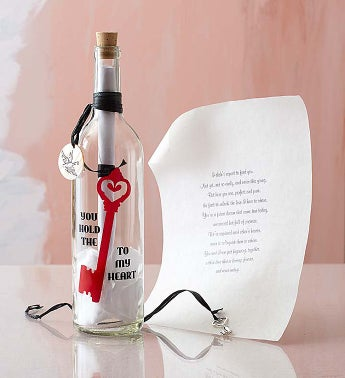 Personalized Message in a Bottle® Key to My Heart