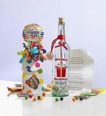 Personalized Message In A Bottle Happy Birthday SnipeImage