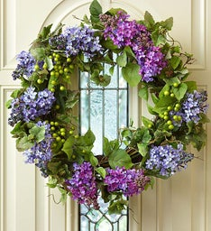 Faux Lilac Wreath - 24""