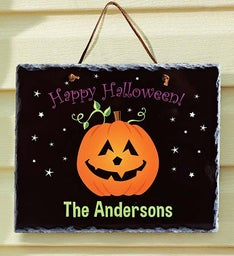 Personalized Halloween Slate Sign