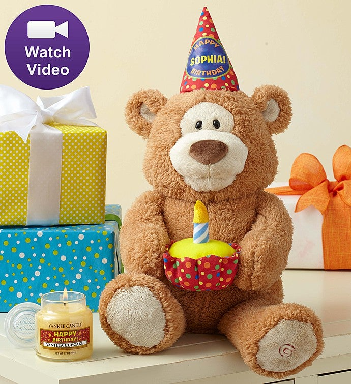 Personalized Happy Birthday Animated Bear by Gund®