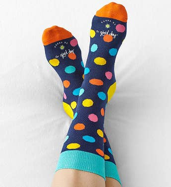 Good Day™ Polka Dot Socks for Women