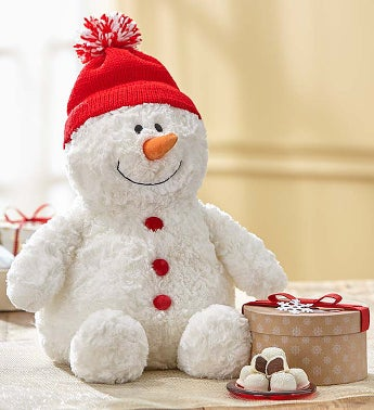 Gund® Plush Snowman with Fannie May Chocolate
