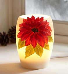 Holiday Poinsettia Accent Lamp