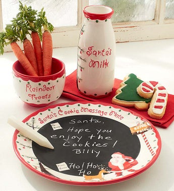 Santa's Cookies and Milk Keepsake Set