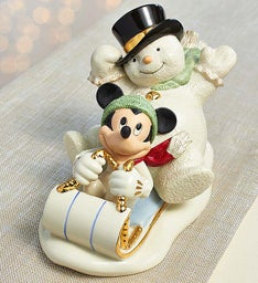 Lenox® Snowy Day with Mickey Collectible